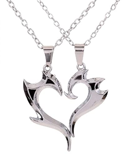 Buy 19 likes couple heart pendant silver alloy chain for women 19 likes couple heart pendant silver alloy chain for women aloadofball Gallery