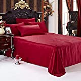 Customizable Handmade Silk Flat Sheet/Blanket 1-Piece Machine Washable Luxurious 100% Pure Mulberry Silk by Luxuer