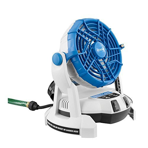 Arctic Cove MBF0181 18-Volt Bucket Top Misting Fan with 2 Speeds and Quiet Performance Pump (Battery and Charger Included) ()