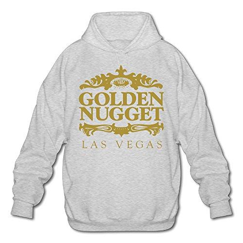 PHOEB Mens Sportswear Drawstring Hooded Sweatshirt,Las Vegas Ash X-Large