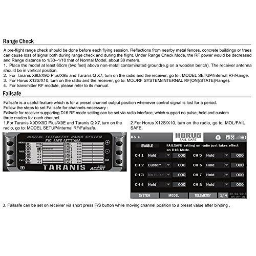 FrSky R-XSR Recepteur, Frsky Taranis 2.4GHz 16CH ACCST RC Recepteur ( 16CH SBUS 8CH CPPM Output ) Support X9D X9E X9D Plus X12S Frsky RC Emetteur Radio Commande for FPV Racing RC Drone Quadcopter by LITEBEE
