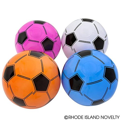 12 SOCCER BALLS INFLATABLE New Mixed Colors 16