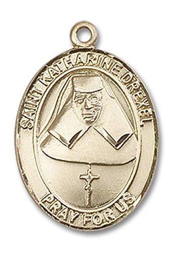 14 Karat Gold Saint Katharine Drexel Medal Pendant, 1 - Medal Pendant Drexel Katharine