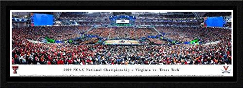 2019 NCAA Basketball Championship - Virginia vs Texas Tech - Single Mat, Select Framed Picture by Blakeway Panoramas