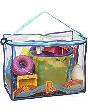 B. Toys 44194 - Ready Beach Bag, zandspeelgoed, olijf