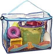 B. toys – B. Ready Beach Bag – Beach Tote with Mesh Panel and 11 Funky Sand Toys – Phthalates and BPA Free – 1