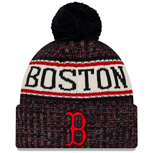 New Era Boston Red Sox 2019 Sideline Home Pom Sport Knit Hat (Winter Hat Red Sox)