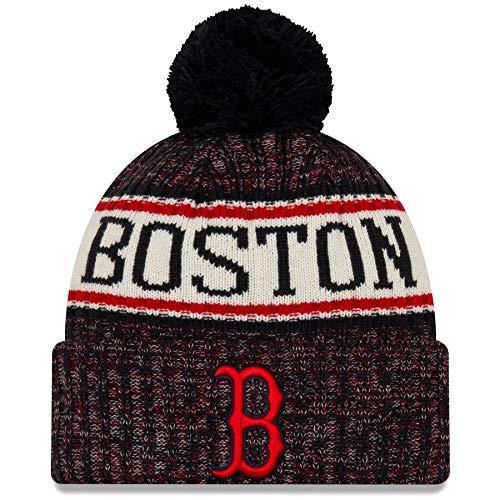 New Era Boston Red Sox 2019 Sideline Home Pom Sport Knit Hat