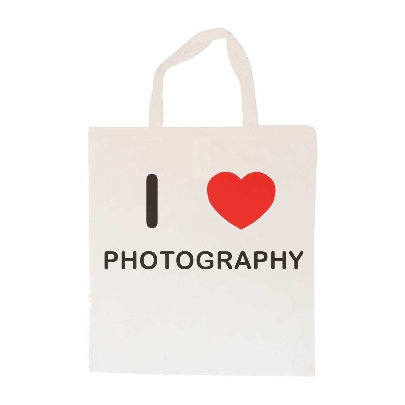 I Love Photography Cotton Tote Bag