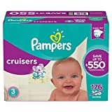 Pampers Cruisers Disposable Diapers Size 3, 174 Count, ECONOMY PACK PLUS (Packaging May Vary)