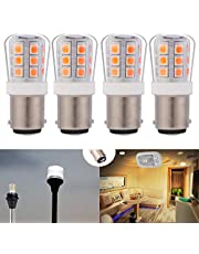 12V Low Voltage 1004 1076#90 led Light Bulb BA15D Double Contact Bayonet for RV Trailer Camper Motor Home Marine Boat Landscape Bulb 2.5W 330lm Equivalent 35W Daylight 5000K Pack of 4