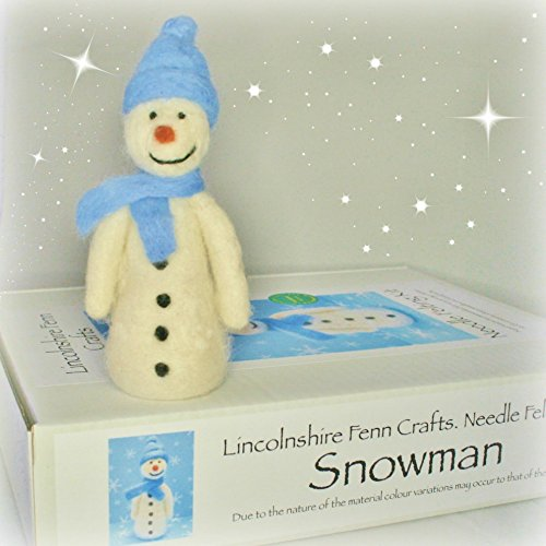 Christmas Snowman Needle Felting Craft Kit - - DIY Craft Kit - No Sewing. No Wires - From Lincolnshire Fenn Crafts from Lincolnshire Fenn Crafts
