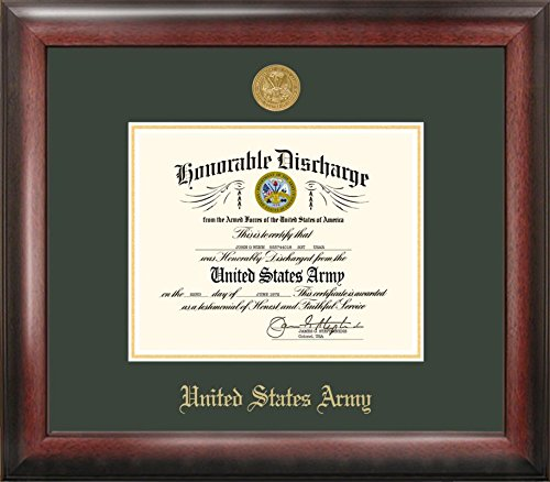 Campus Images ''Army Discharge Frame with Gold Medallion, 8.5'' x 11'' by Patriot