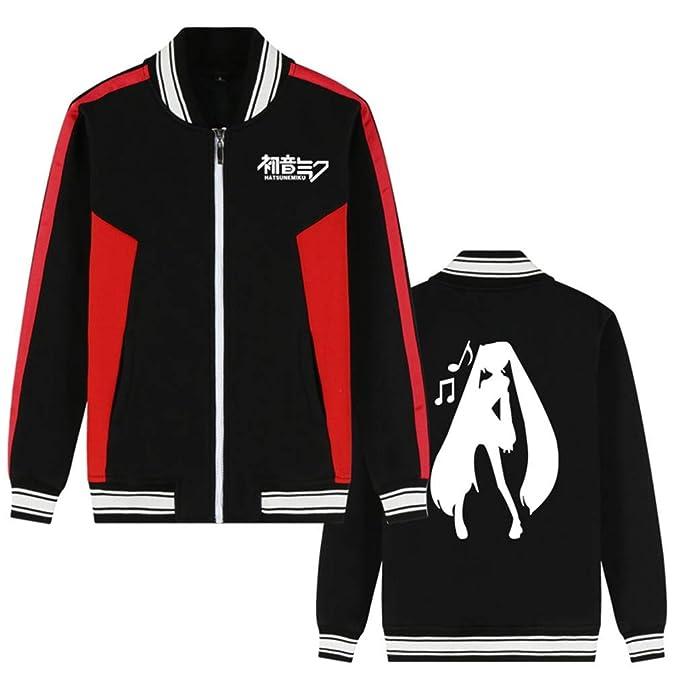 Cosstars Hatsune Miku Anime Chaqueta de Béisbol Bomber Jacket Cosplay Disfraz Zipper Sudadera Suéter Outwear Abrigo: Amazon.es: Ropa y accesorios