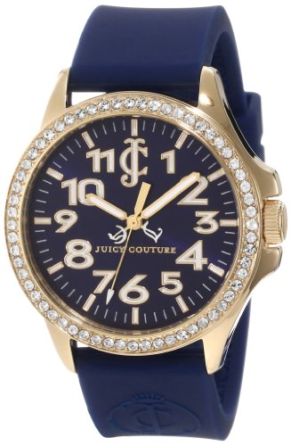 Juicy Couture Women's 1900962 Jetsetter Navy Blue Silicone Strap Watch