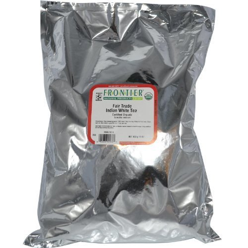 Frontier Bulk White Tea, Indian, ORGANIC, Fair Trade Certified, 1 lb. package - 2PC - 3PC