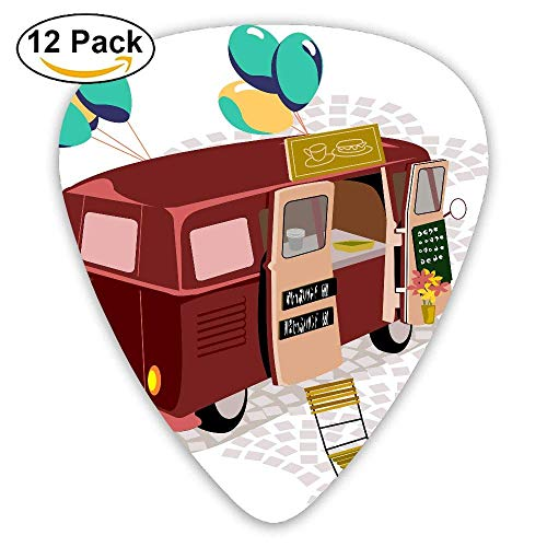 Food Stalls - Stalls Food Truck Classic Guitar Picks 16 Pack For Electric/acoustic Guitar,and Bass