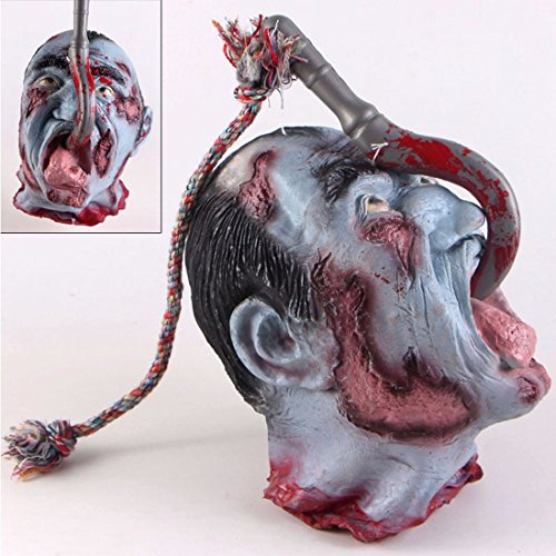 Halloween Bloody Decorations Severed Head Cut off Corpse Head Prop Hanging Zombie Party Supplies