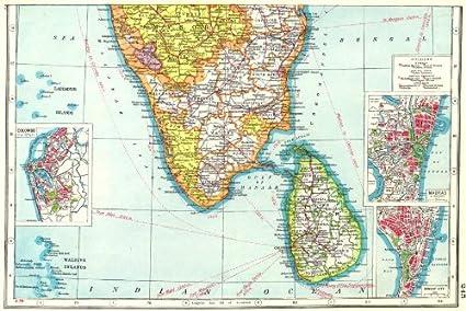 Amazon.com: SOUTH INDIA/CEYLON. Chennai Madras ay Mumbai ... on oslo norway on map, bora bora tahiti on map, medellin colombia on map, xiamen china on map, dublin ireland on map, bremen germany on map, madrid spain on map, port elizabeth south africa on map, copenhagen denmark on map, kuala lumpur malaysia on map, guangzhou china on map, bucharest romania on map, stockholm sweden on map, buenos aires argentina on map, phuket thailand on map, nice france on map, jakarta indonesia on map, shannon ireland on map, munich germany on map, cape town south africa on map,