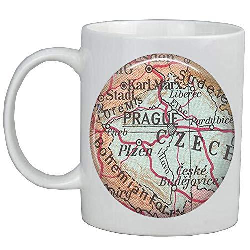 Fashion Coffee Mug,Prague map Mug,Prague Coffee Mug,Prague Mug,Fashion map jewelry,Czech Republic map Mug,A0201 -