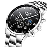 Watches Men LIGE Simulated Watches Sport Quartz Casual with Chronograph Waterproof Date