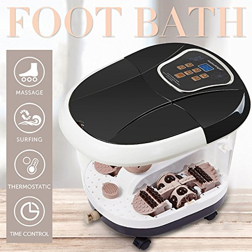 Natsukage All in One Luxurious Foot Spa Bath Massager Motorized Rolling Massage Heat Wave Digital Temperature Control LED Display Fast US Shipping (Type 5) by Natsukage