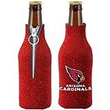 NFL Football Team Logo Womens Ladies Glitter Beer Bottle Holder Cooler