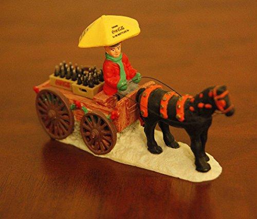 Coca Cola Town Square Collection Horse Drawn Wagon Coke Delivery & Coke Accessory (Drawn Delivery Wagon)