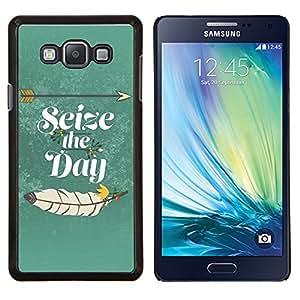 - Seize The Day - - Cubierta del caso de impacto con el patr??n Art Designs FOR Samsung Galaxy A7 Queen Pattern