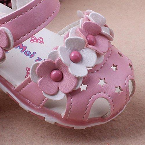 À Imjono Fille Sandales b Princess Rose Filles Bowknot Fashion Fille Single Enfants Été Chaussures Flower Shoes Led IfRIq