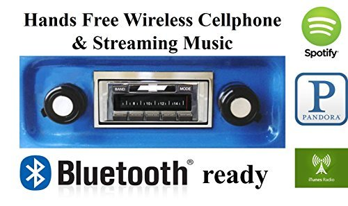 Stereo Enabled Bluetooth (Custom Autosound Stereo + BLUKIT compatible with 1967-1972 Chevrolet Truck, USA-630 II Bluetooth Enabled High Power 300 watt AM FM Car Stereo/Radio)