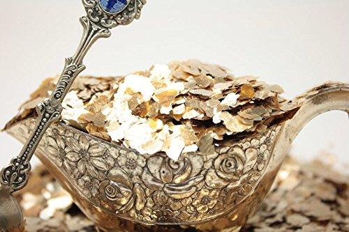 (Gold - Large Flake - Natural Mica - #311-4364 (8 oz Bulk (1/2 Pound)) )
