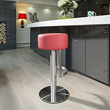 Amazon De Luxus Rot Theke Bar Kuche Hocker Sitz Hocker 913r Edelstahl
