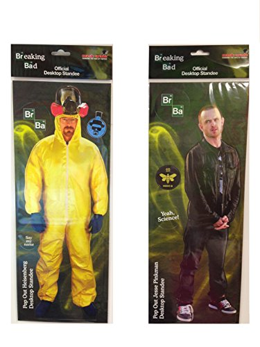 Heisenberg Costume Breaking Bad (Breaking Bad DOUBLE DESK STANDEE PACK- Includes Heisenberg & Jesse Pinkman)