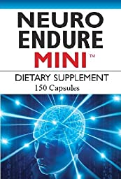Neuro Endure Mini - Blend of Acetyl L-carnitine, Bacopa Monnieri, N-acetyl Cysteine, and 12.5mg L-glutamine for Brain Health.
