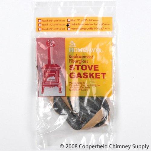 Chimney A.W. Perkins Co 1093N Black Self-adhesive Window Gasket 1/8 Inch x 13/16 Inch x 54 Inch