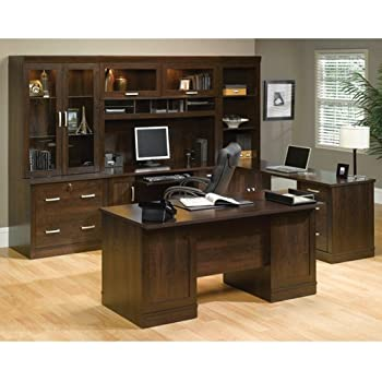 Superbe Sauder Office Furniture Office Port Collection Dark Alder Executive Office  Suite