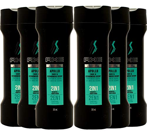 Axe 2 in 1 Shampoo + Conditioner Apollo 12 Ounce (Pack of 6)