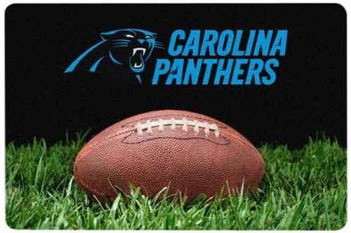 NFL Carolina Panthers Classic Football Pet Bowl Mat, Large (Nfl Team Pet Mat)