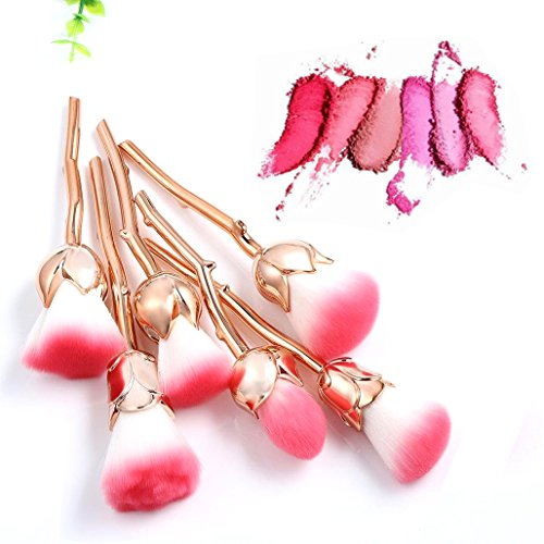 6pcs Pro Cosmetic Brushes Sets(Gold) - 3