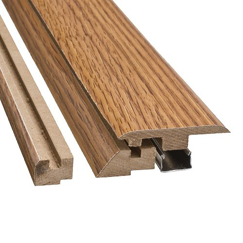 Simple Solutions 4 in 1 Flooring Transition Molding - Golden Amber Oak - Laminate Flooring Molding