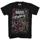 iron man logo shirt - Comics Logo Thor Hulk Iron Man Avengers Spiderman Daredevil Strange Loki Thanos Adult Mens Graphic Tee T-shirt Apparel Black (X-Large)