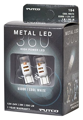 Putco Lighting 340194C-360 Metal LED 360 194 Bulb Type Cool White Metal LED 360