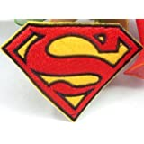 Superman S on Sew Iron on Patch brodé Motif Applique
