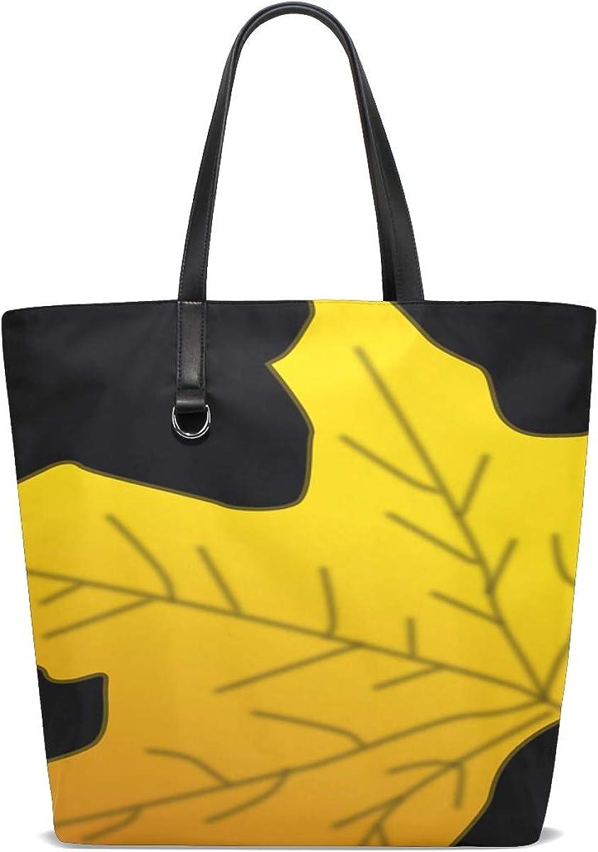 Yellow and Orange Fall Season Womens Handbag Tote Purse