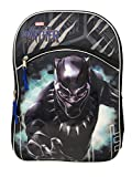 Marvel Black Panther Full Size Two Zipper Compartment Backpack for School or Travel, 16 inches