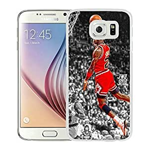 Popular And Unique Custom Designed Cover Case For Samsung Galaxy S6 With Michael Jordan 5 White Phone Case
