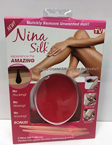 how to use nina silk hair remover