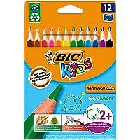 BIC Kids Evolution Üçgen Jumbo Kuru Boya Kalemi, 12'li Kutu