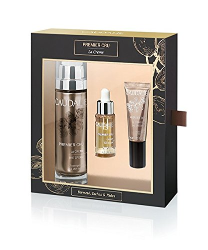 Caudalie Premier Cru Gift Set: 50mL Premier Cru The Cream, 10mL Premier Cru The Elixir and 7mL Premier Cru The Eye Cream